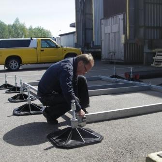 Cистемы крепления Big Foot на объектах Швеции